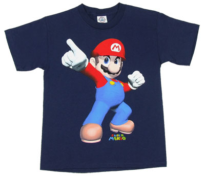 Mario Pointing - Nintendo Boys T-shirt