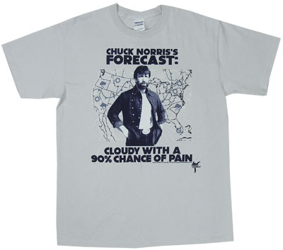 Cloudy With A Chance Of Pain - Chuck Norris T-shirt