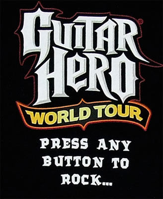Press Any Button To Rock - Guitar Hero World Tour T-shirt