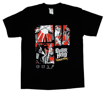 Comic Montage - Guitar Hero World Tour T-shirt