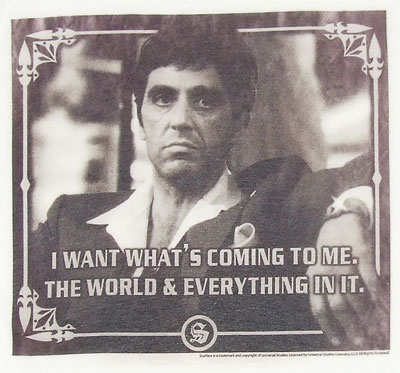 I Want Whats Coming To Me - Scarface Photo-Sheer Women\'s T-shirt