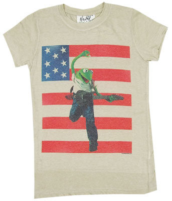 Kermit USA - Muppets Photo-Sheer Women\'s T-shirt