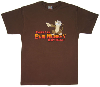 There's An Evil Monkey In My Closet - Family Guy T-shirt