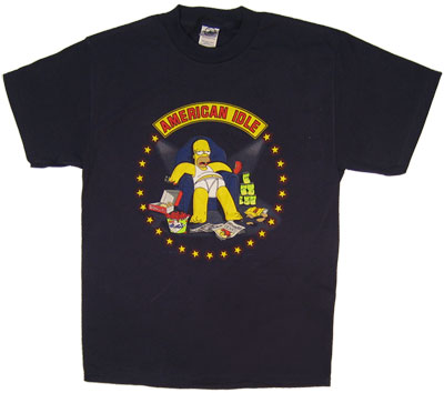 American Idle - Homer - Simpsons T-shirt