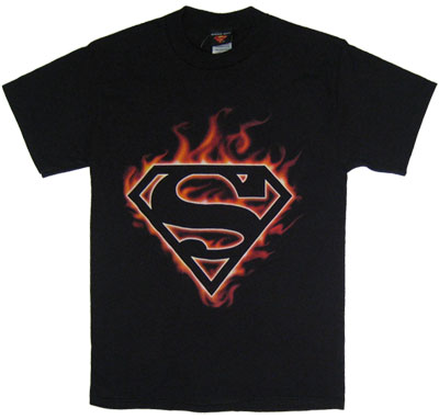 Superman Logo (Flame) - Superman - DC Comics T-shirt