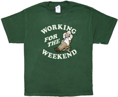 Working For The Weekend - Homer - Simpsons T-shirt