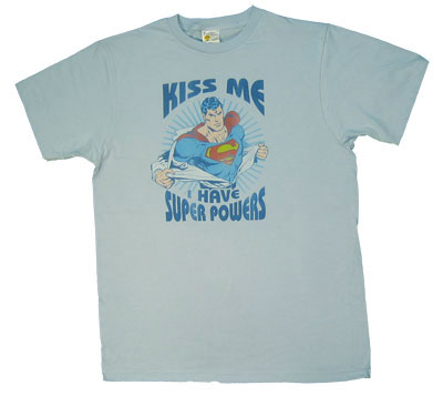Kiss Me I Have Super Powers - Superman - DC Comics Sheer T-shirt