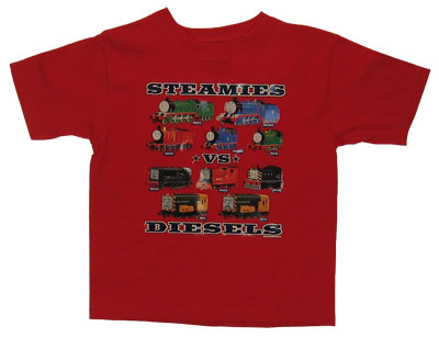Steamies Vs. Diesels - Thomas The Tank Engine Juvenile And Toddler Heat Transfer T-shirt