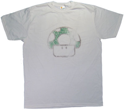 1Up Mushroom (Very Distressed) - Nintendo Sheer T-shirt