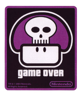 Game Over Poison Mushroom - Nintendo Sticker