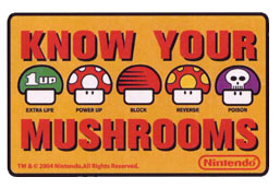 Know Your Mushrooms - Nintendo Sticker