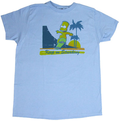 Keep On Streaking - Bart - Simpsons Sheer T-shirt