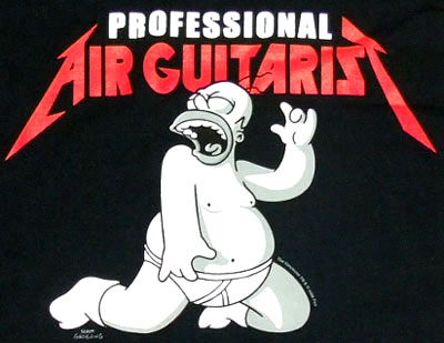 Professional Air Guitarist - Homer - Simpsons T-shirt