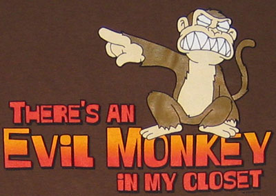 There\'s An Evil Monkey In My Closet - Family Guy T-shirt