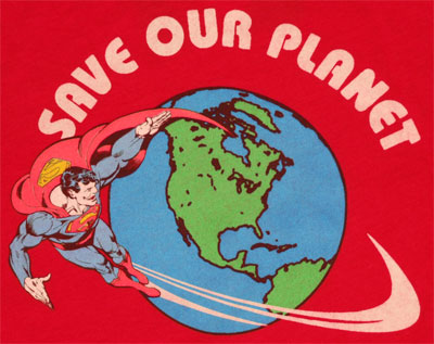 Save Our Planet - Superman - DC Comics Sheer Women\'s T-shirt