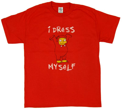 I Dress Myself - Ralph Wiggum - Simpsons T-shirt