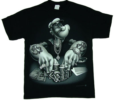 Popeye Playing Poker - Popeye T-shirt