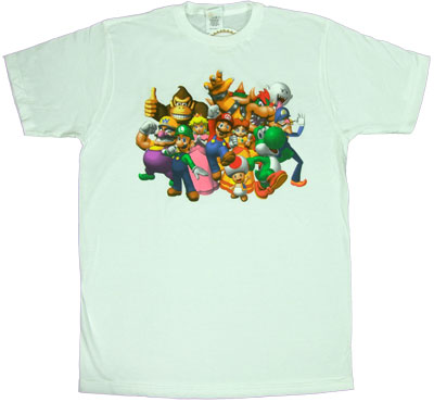 Mario Party Group (Color) - Nintendo Sheer T-shirt