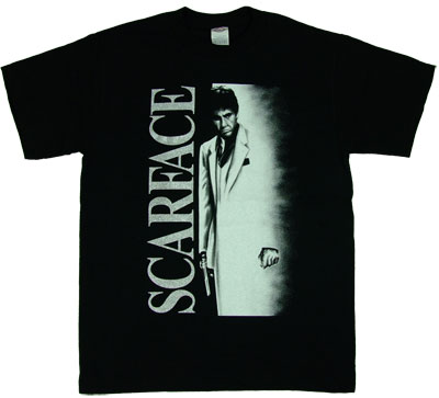 98c9a65bb Airbrush Movie Poster Scarface T shirt on PopScreen