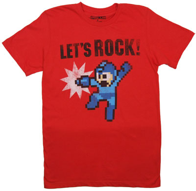 Let&#039;s Rock! - Mega Man Sheer T-shirt