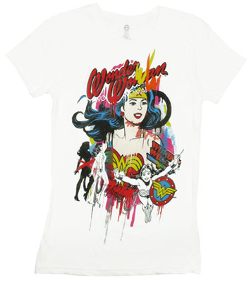 Wonder Woman Watercolor - DC Comics Sheer Women&#039;s T-shirt