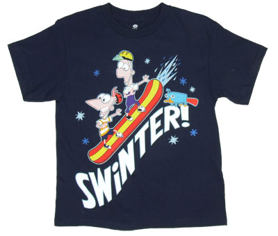 Swinter! - Phineas And Ferb T-shirt