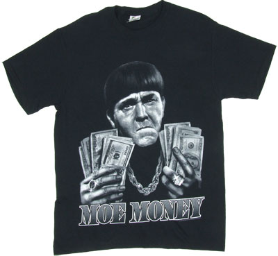 Moe Money - Three Stooges T-shirt