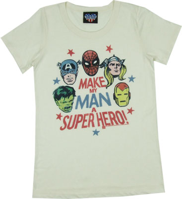 Make My Man A Super Hero - Junk Food Women's T-shirt