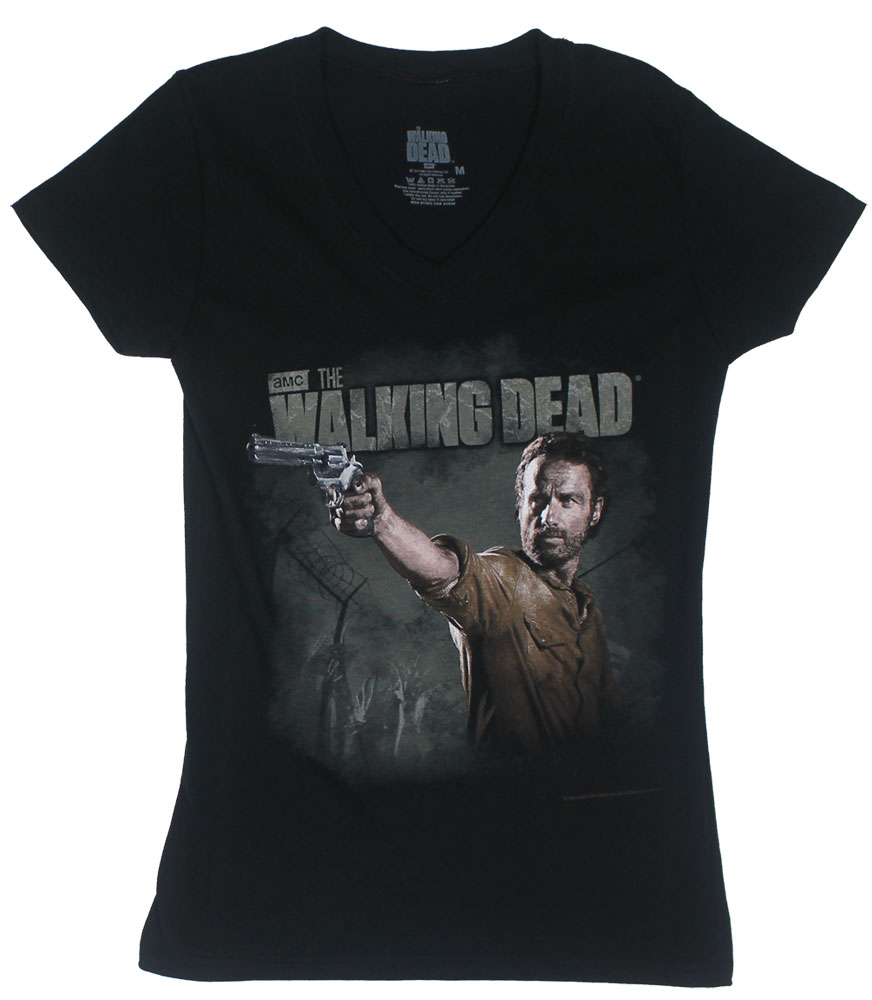 Rick Revolt - The Walking Dead Juniors V-Neck T-shirt