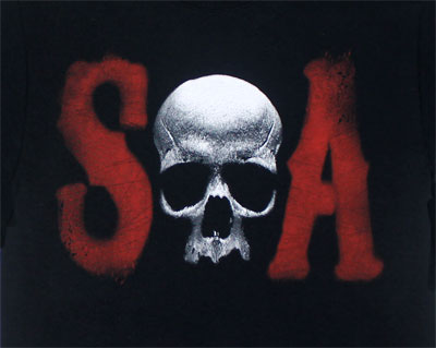 Skull S And A - Sons Of Anarchy T-shirr