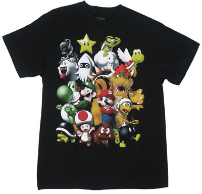 Super Mario Bros Characters - Nintendo T-shirt
