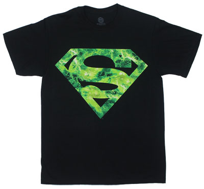 Green Space Superman Logo - DC Comics T-shirt
