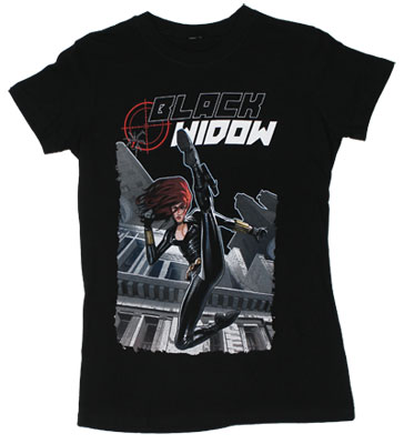 Black Widow - Marvel Comics Sheer Women&#039;s T-shirt