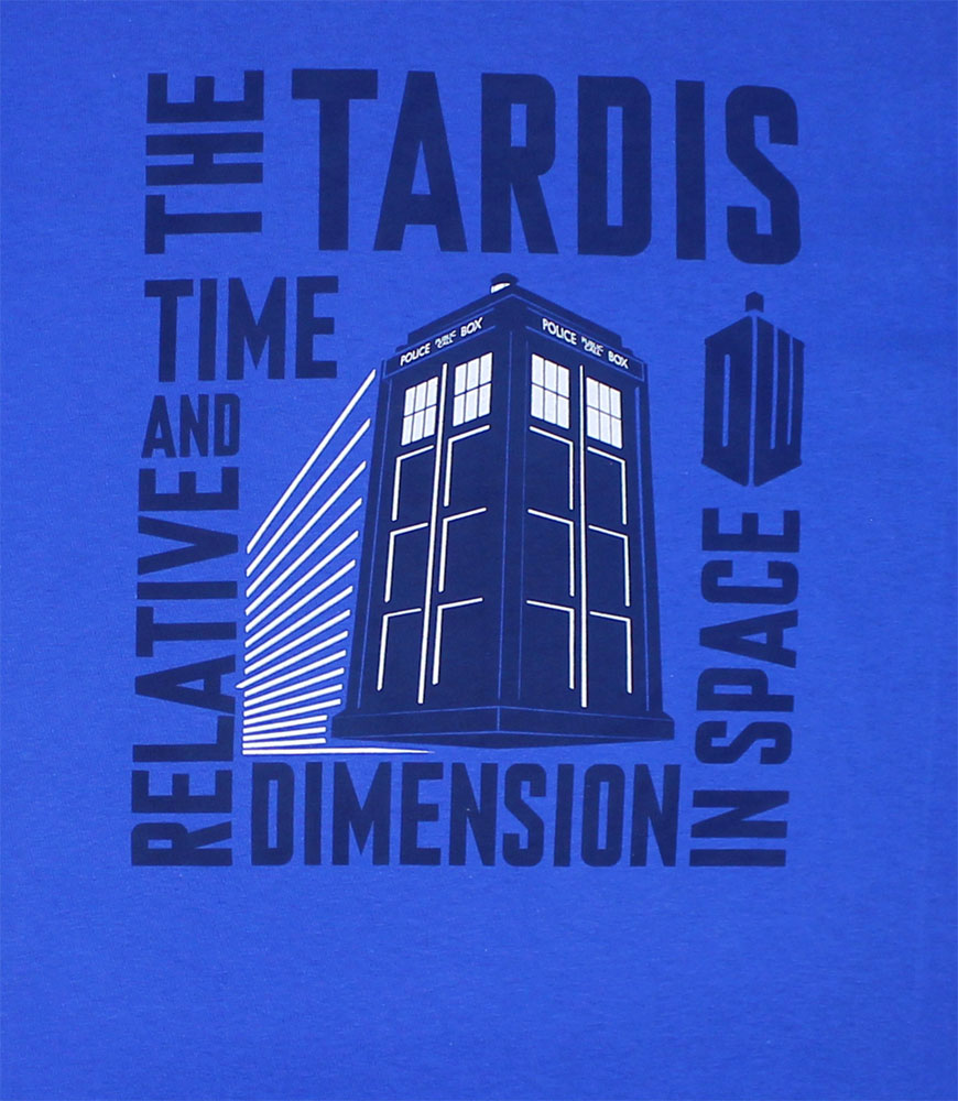 Time And Relative Dimension In Space - Dr. Who T-shirt