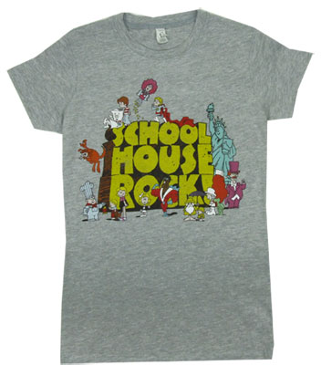 Logo with Characters - Schoolhouse Rock Sheer Women's T-shirt