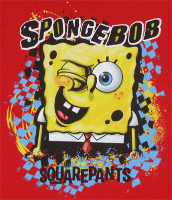 Spongebob Winking - Spongebob Squarepants Juvenile Faux Long Sleeve T-shirt