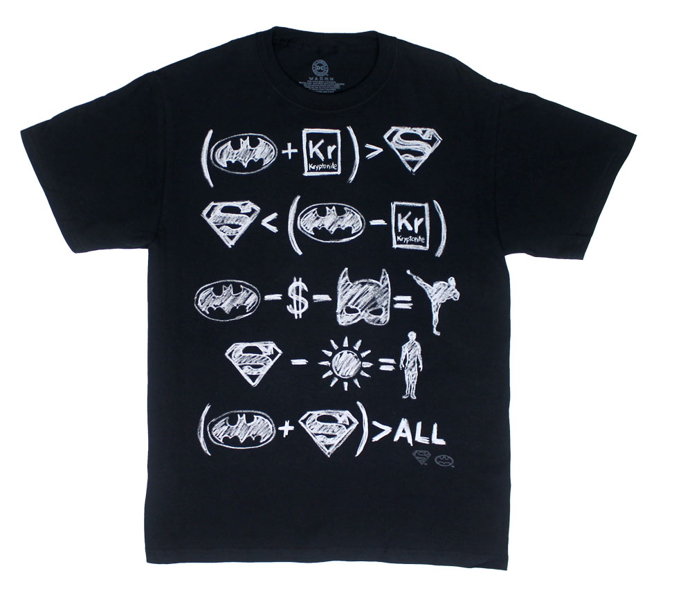 Hero Equations - DC Comics T-shirt