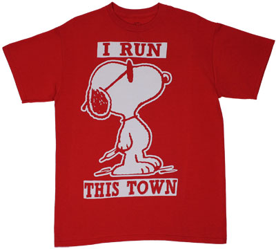 I Run This Town - Peanuts T-shirt