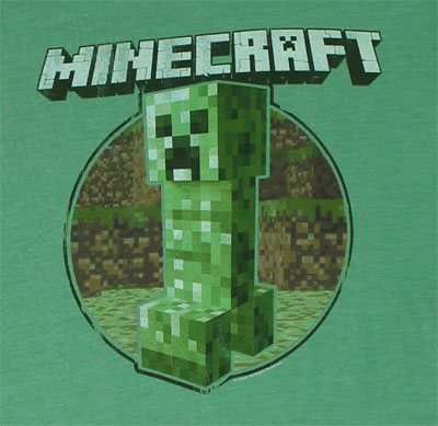 Retro Creeper - Minecraft Sheer T-shirt