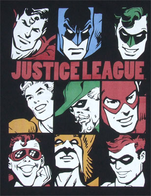 Nine Blocks Of Justice - DC Comics T-shirt
