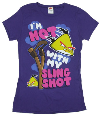 I&#039;m Hot With My Sling Shot - Angry Birds Sheer Women&#039;s T-shirt