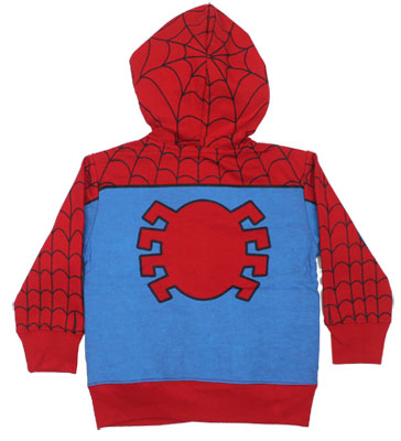 Spider-Man Costume - Marvel Comics Juvenile And Toddler Hooded Sweatshirt
