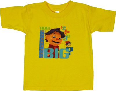 How Big? - Sid The Science Kid Juvenile And Toddler T-shirt