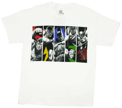 Superhero Group Panels - DC Comics T-shirt