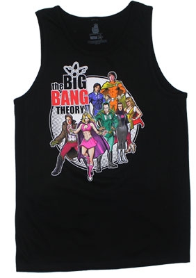 Superheroes - Big Bang Theory Tank Top