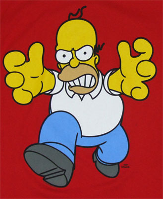 Angry Homer - Simpsons T-shirt