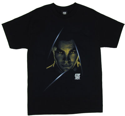 Kirk In Logo - Star Trek Movie T-shirt