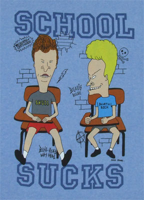 School Sucks - Beavis And Butthead T-shirt