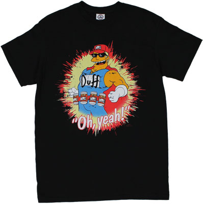 Oh Yeah! - Duffman - Simpsons T-shirt