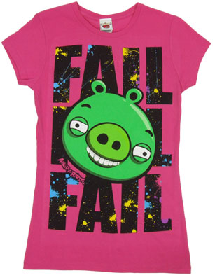 Fail - Angry Birds Sheer Women's T-shirt